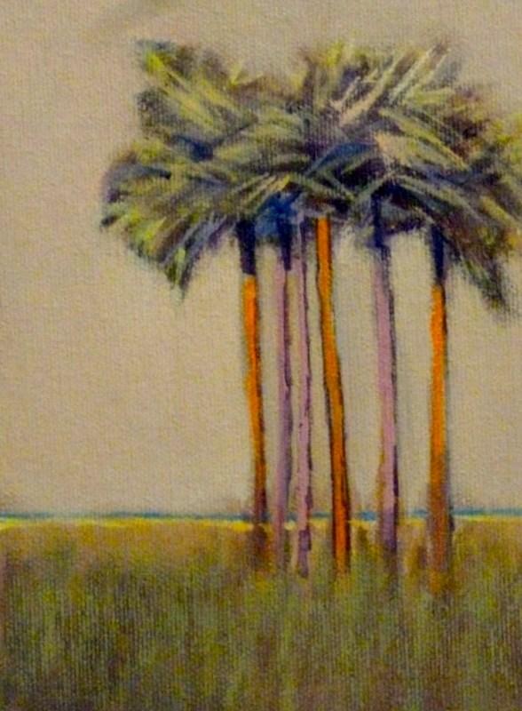 """Palms"" original fine art by Jo-Ann Sanborn"