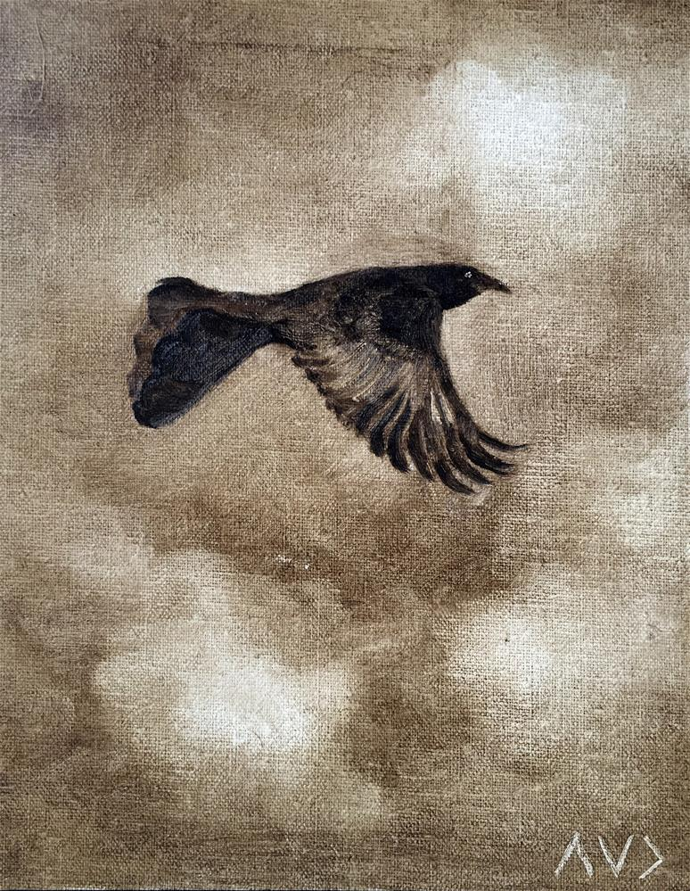 """Challenge - Bird 2"" original fine art by Van DeGoede"