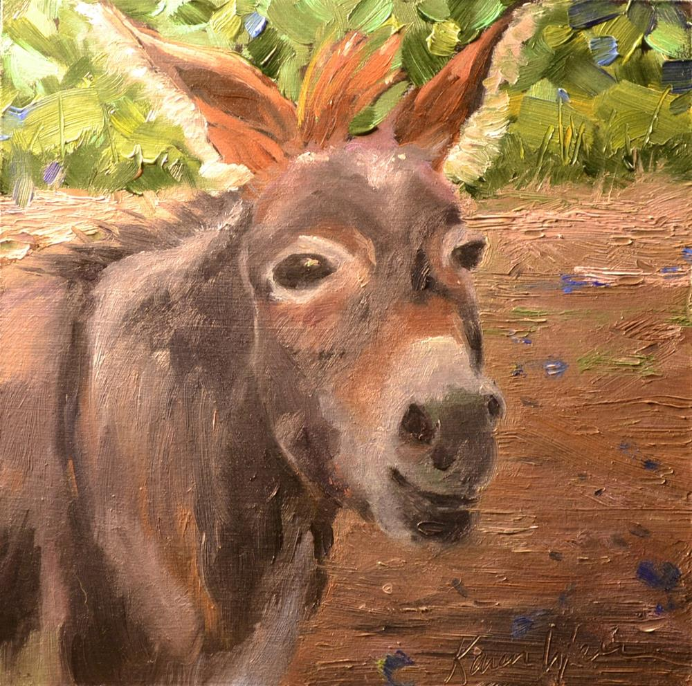 """Little Happy One"" original fine art by Karen Weber"