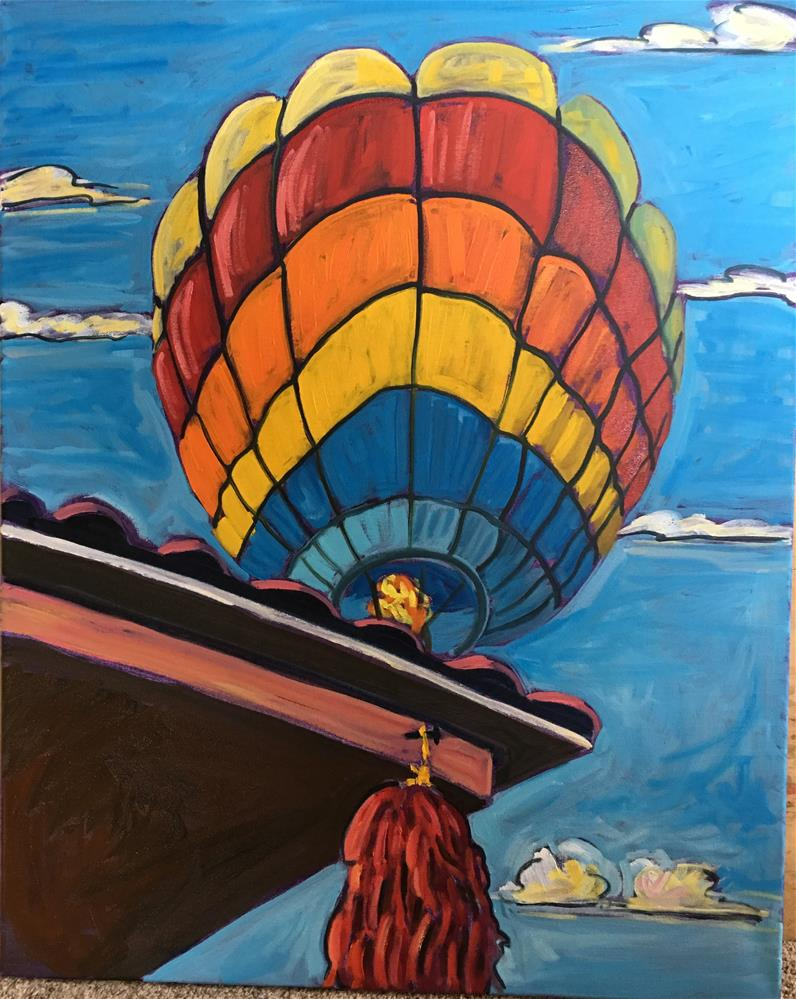 """Balloon Fiesta Morning #1"" original fine art by Robyn Wellman"