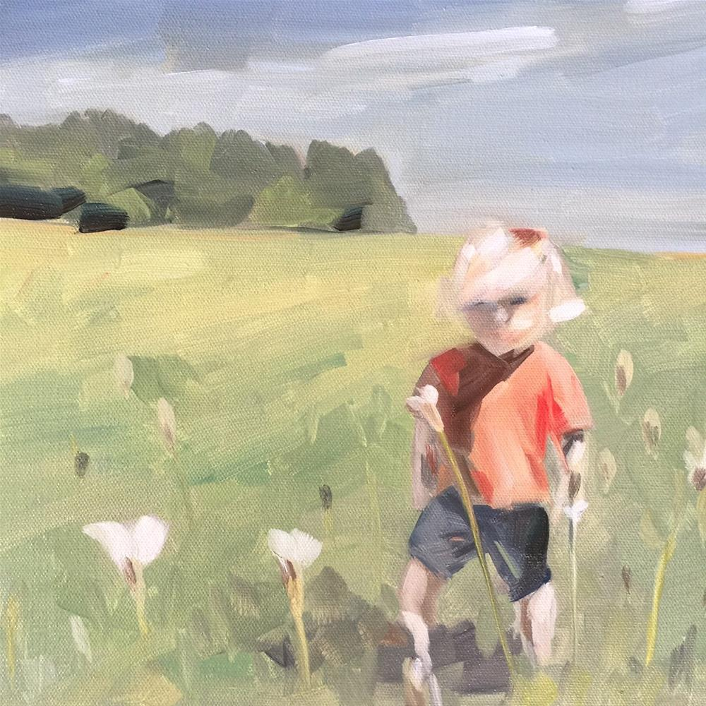 """287 Innocence and the Field"" original fine art by Jenny Doh"