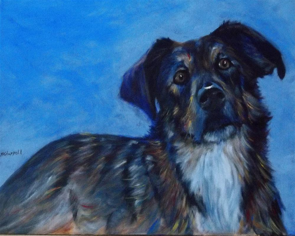 """Miss Daisy"" original fine art by Becky Chappell"