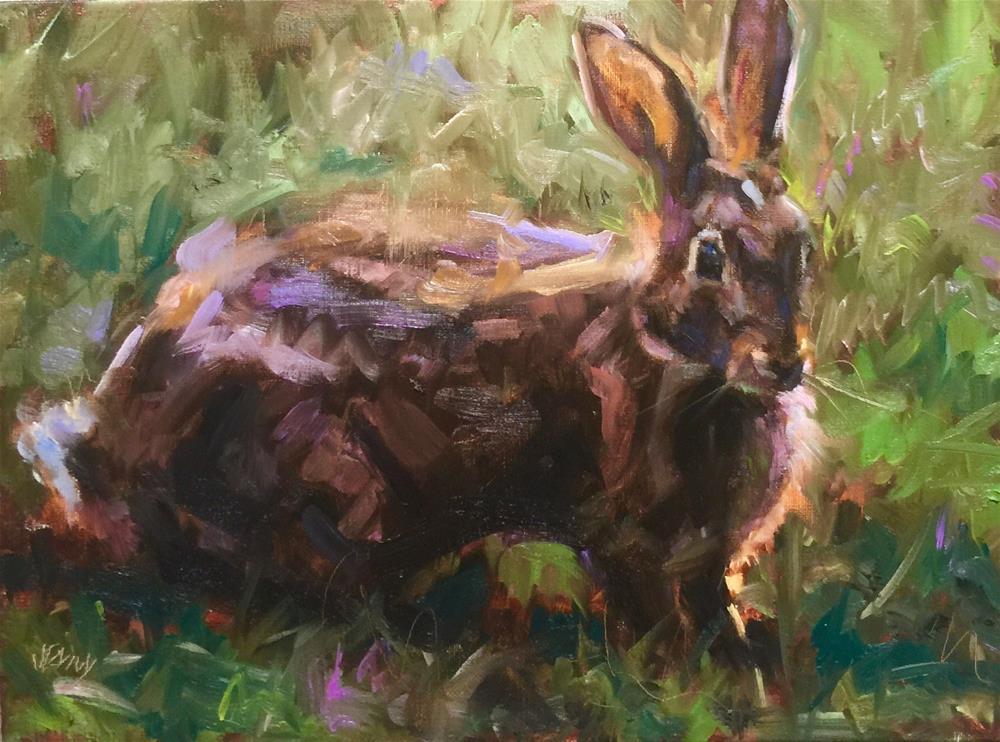 """Wild Hare"" original fine art by Jenny Buckner"