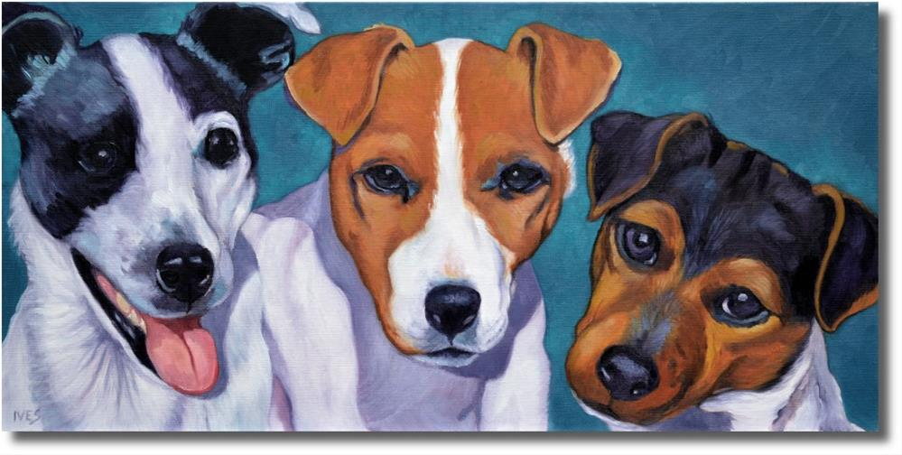 """Jack Russell Terriers"" original fine art by Rk Ives"