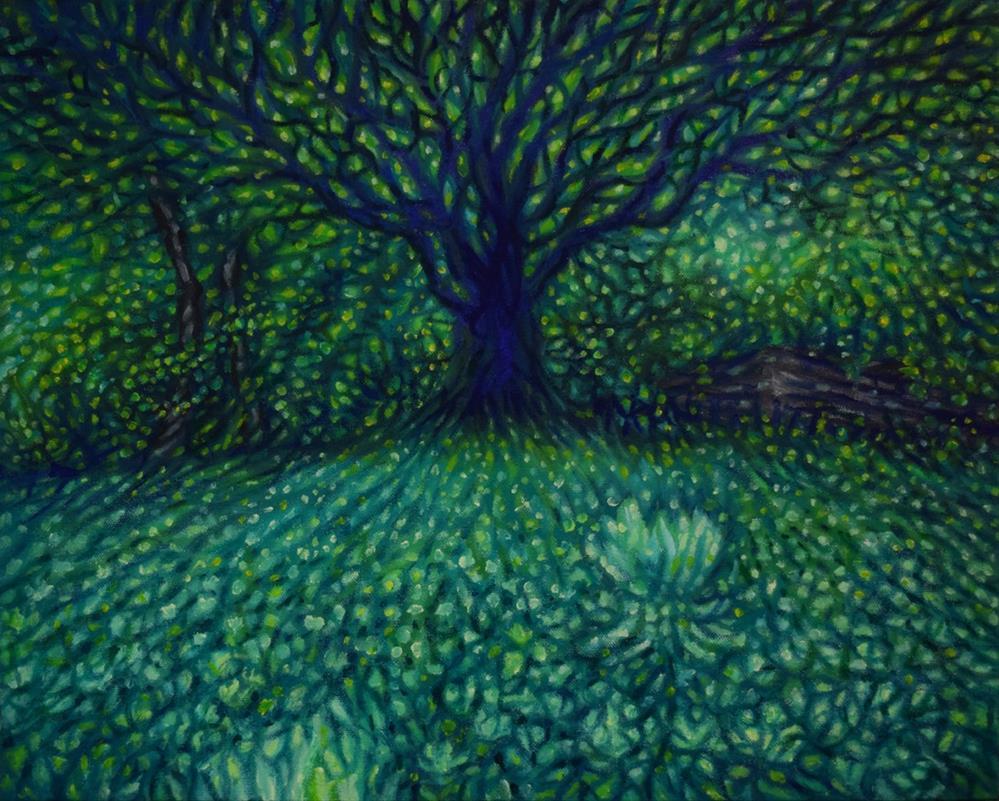 """Clover field at Oakland"" original fine art by Lori Fredricks"