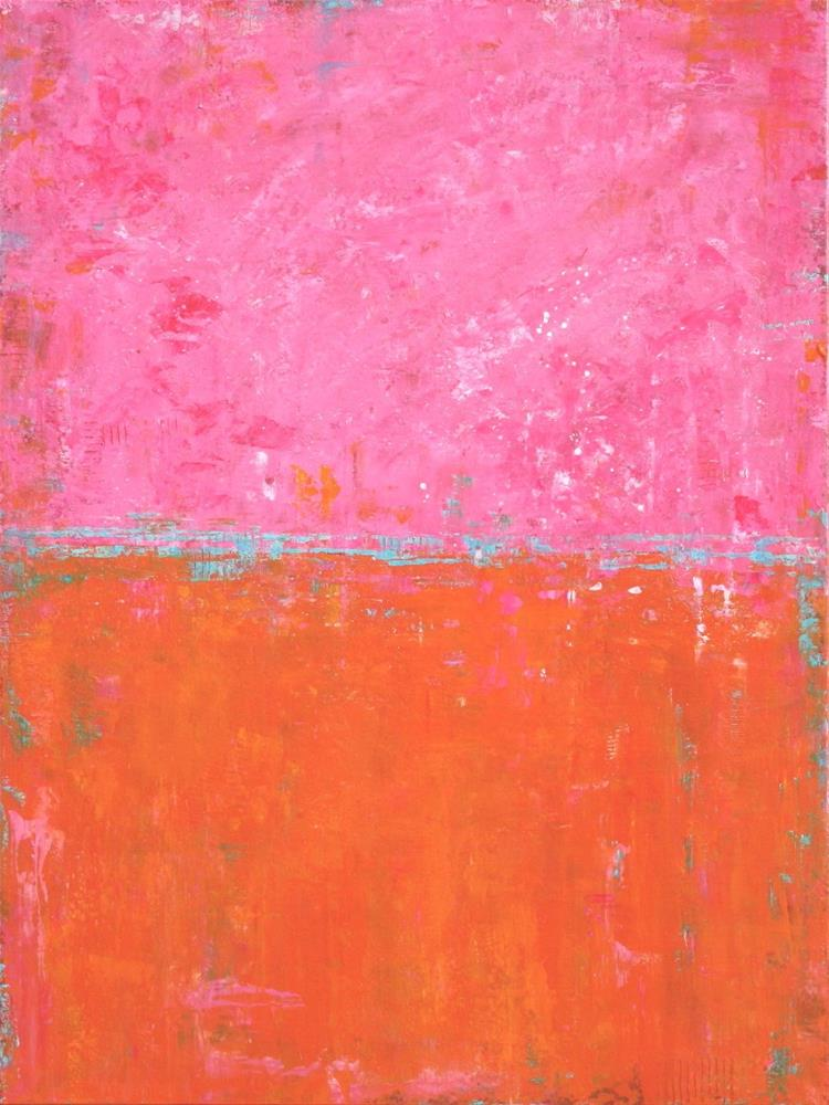 """""""Abstract in Pink and Orange VI"""" original fine art by Sage Mountain"""