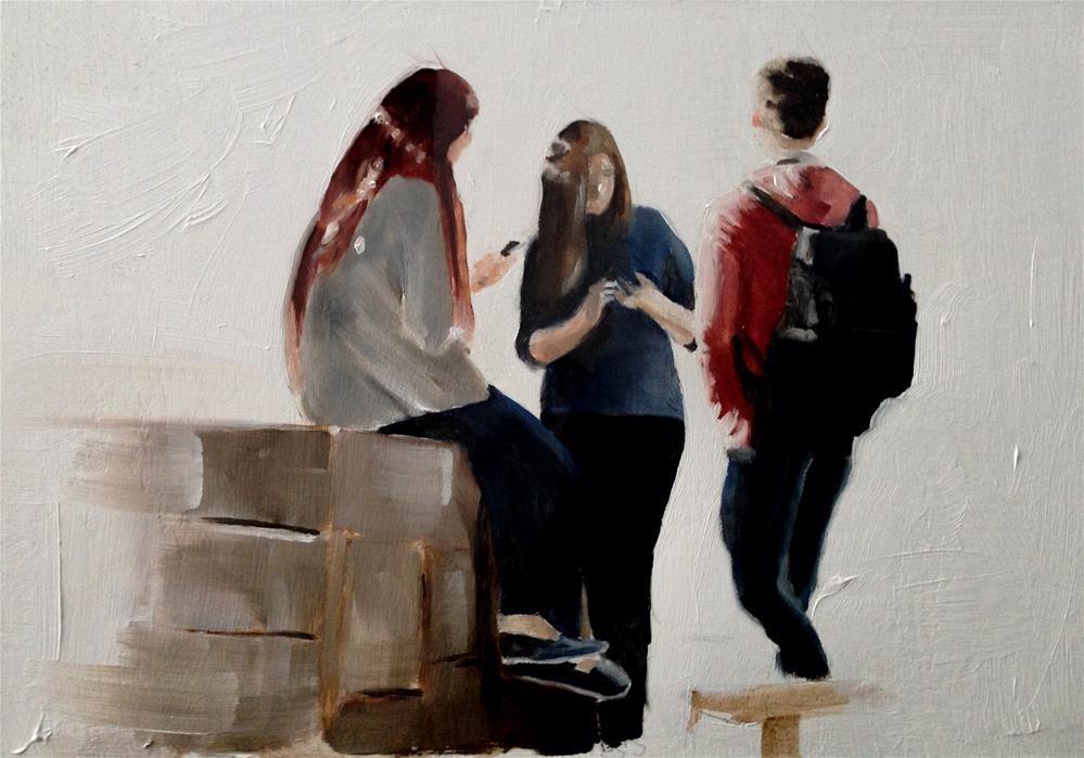 """A City Corner"" original fine art by James Coates"