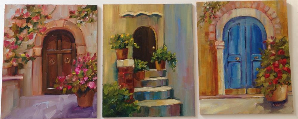 """Doors Galore"" original fine art by Libby Anderson"