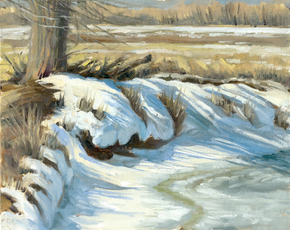 """""""Icy Banks"""" original fine art by Kath Reilly"""