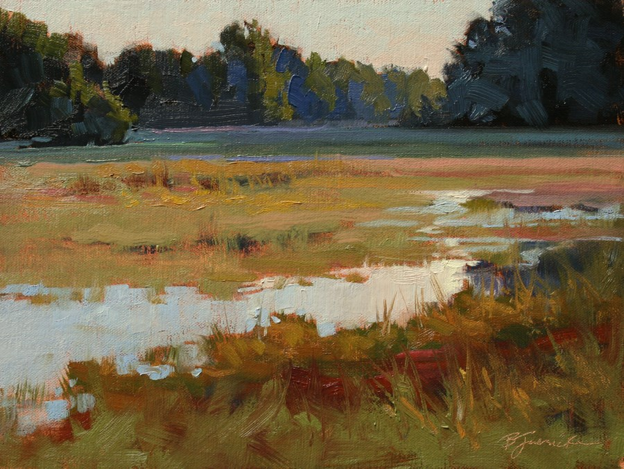 """September Wetlands"" original fine art by Barbara Jaenicke"