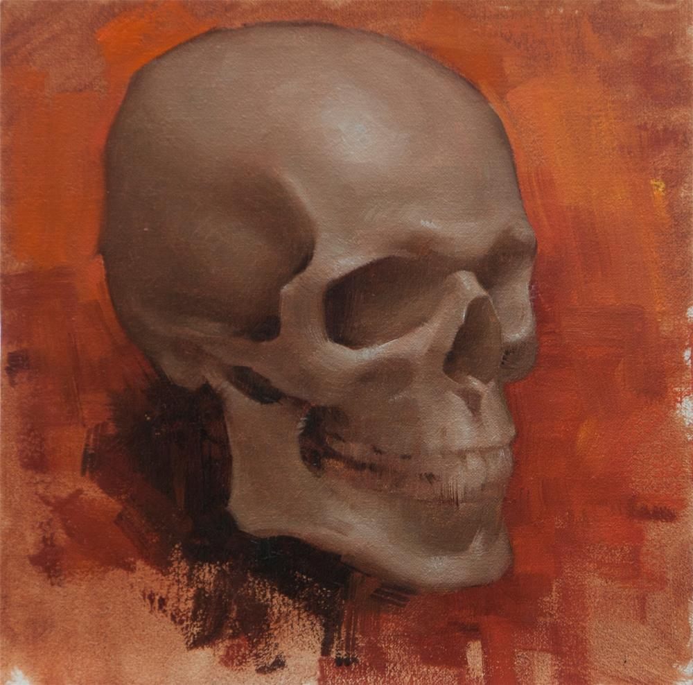 """Skull Study (framed)"" original fine art by Catherine Bobkoski"
