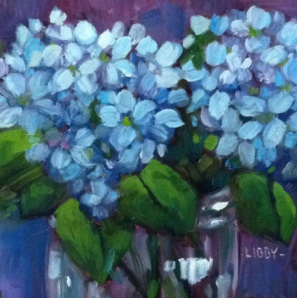 """Blues in a Jar"" original fine art by Libby Anderson"