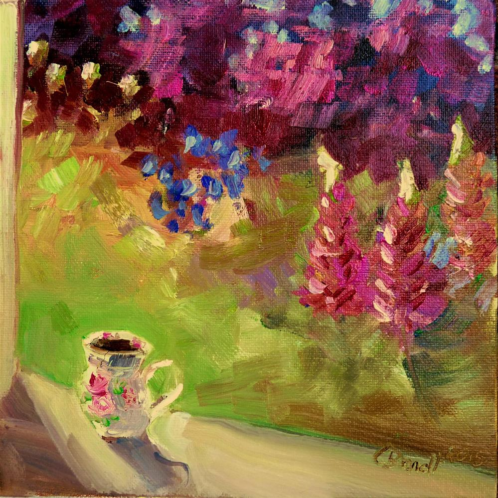 """Cup of coffee"" original fine art by Claudia Brandt"