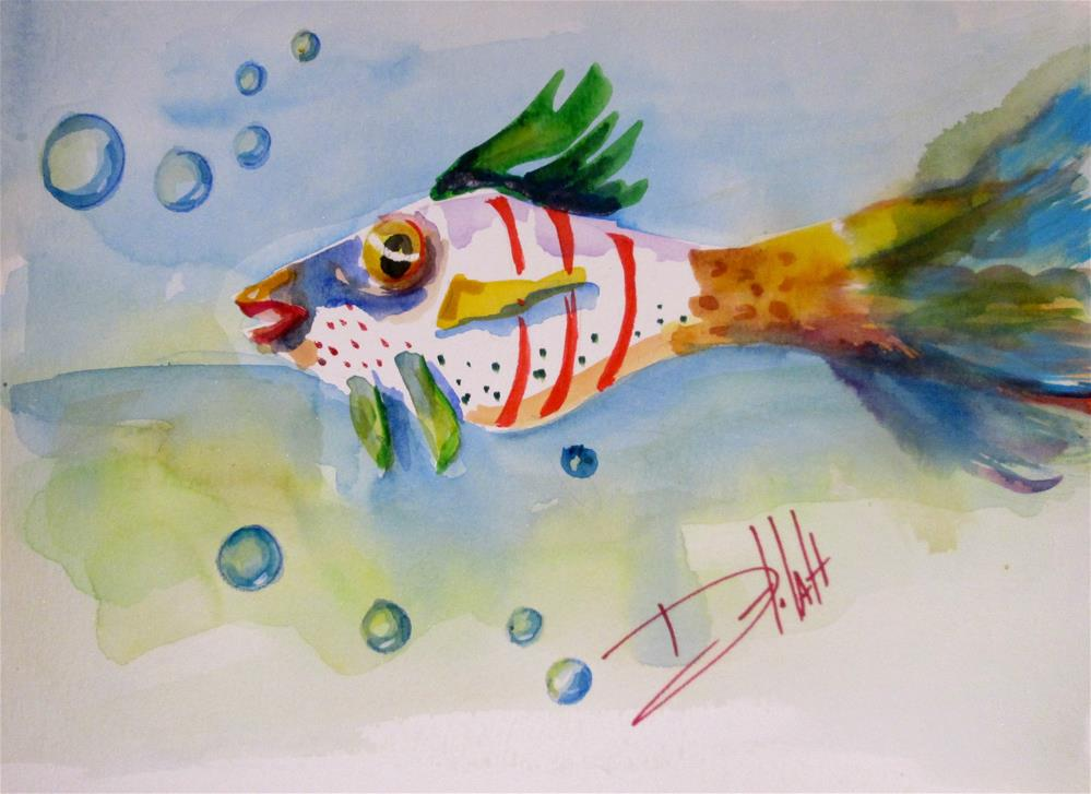"""Stripped Fish"" original fine art by Delilah Smith"