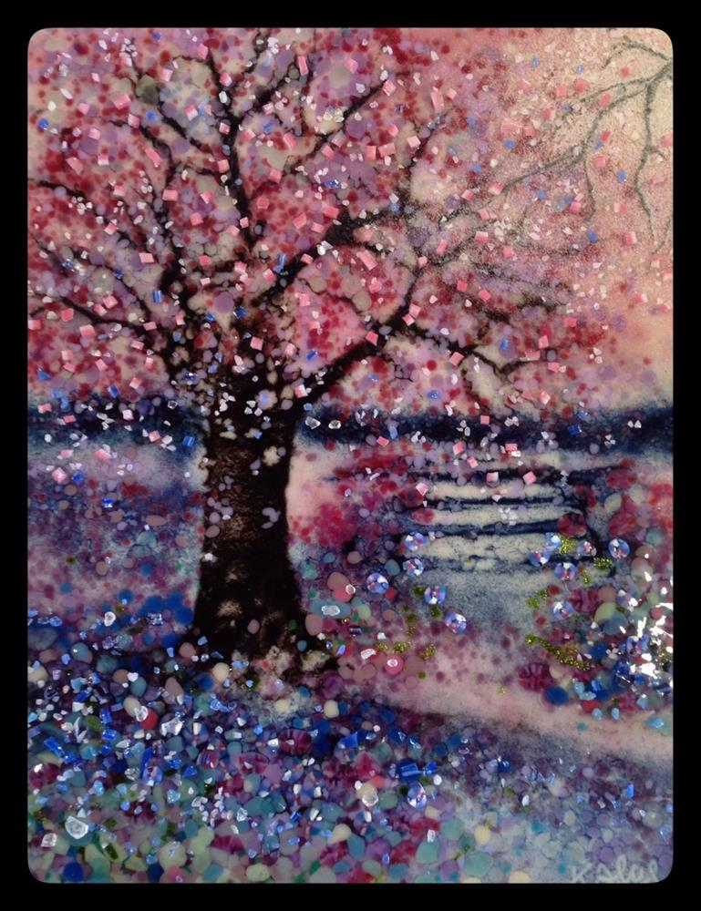 """Pastel Tree"" original fine art by Kelly Alge"