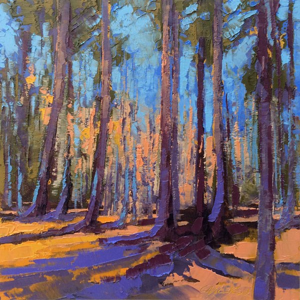"""""Congaree Ridge, Winter"""" original fine art by Mary Gilkerson"