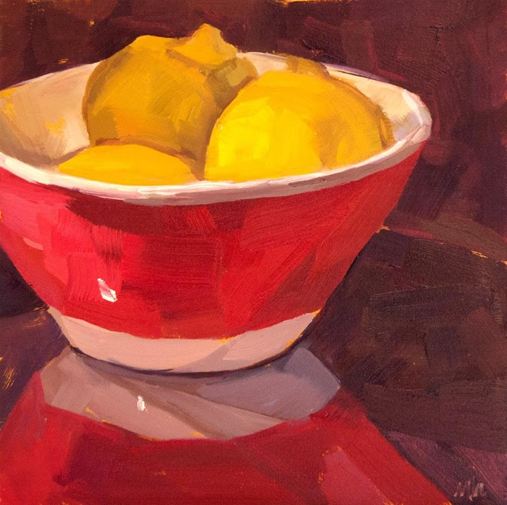 """Lemons"" original fine art by Miriam Hill"