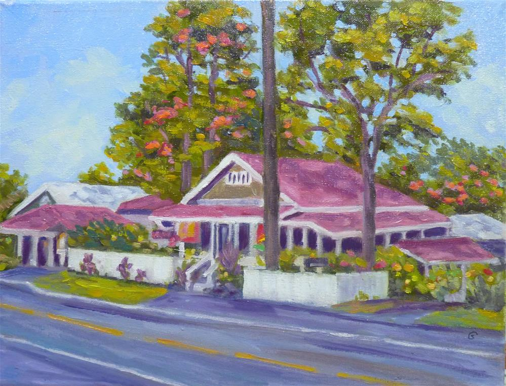 """Holualoa Village Scene"" original fine art by Stan Chraminski"