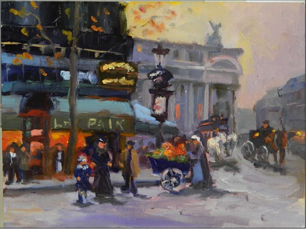 """La Paix, after Cortes, 9x12, oil on Raymar panel, After Eduard Cortes, French impressionism, Paris"" original fine art by Maryanne Jacobsen"