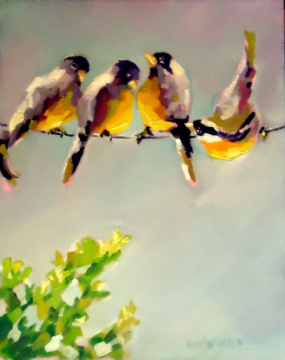 """Hang in There"" original fine art by Laurie Mueller"