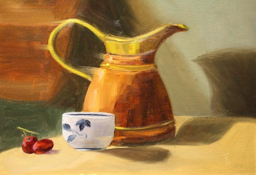"""Copper Pitcher"" original fine art by Jane Frederick"