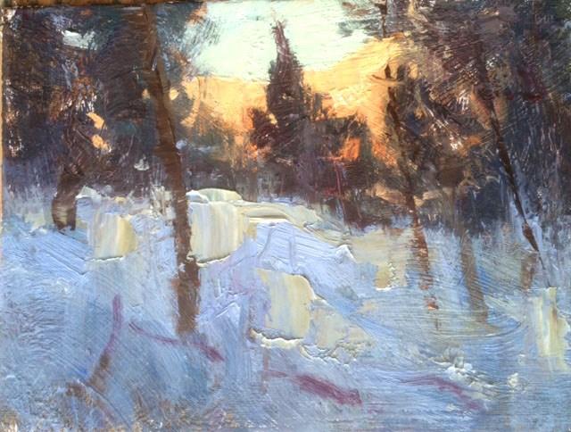 """Winters Palette"" original fine art by Michael Clark"