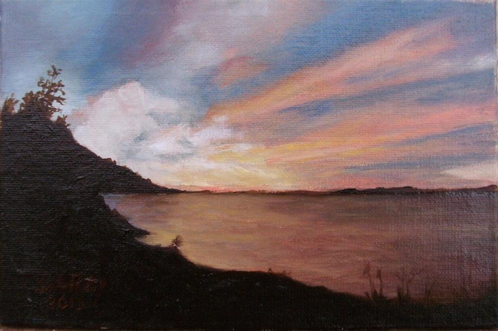 """Sunset Silhouette"" original fine art by Lynn Darby"