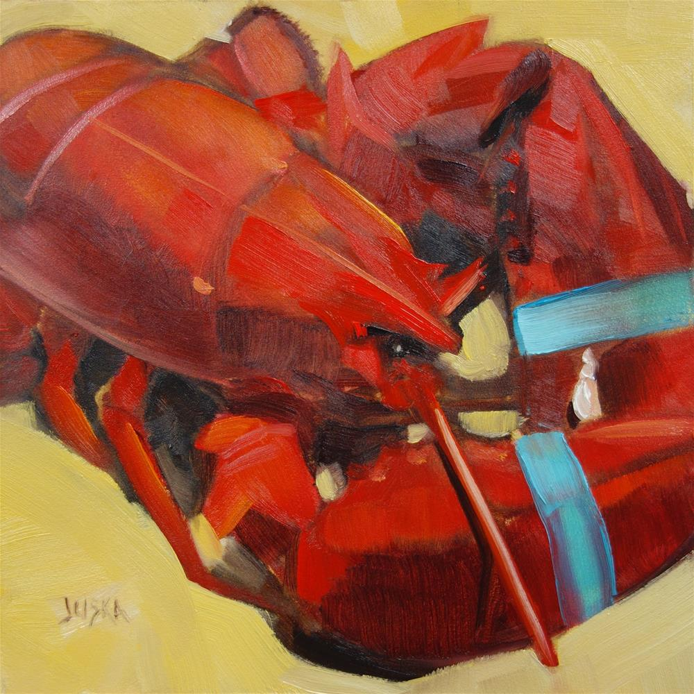 """Lobster"" original fine art by Elaine Juska Joseph"