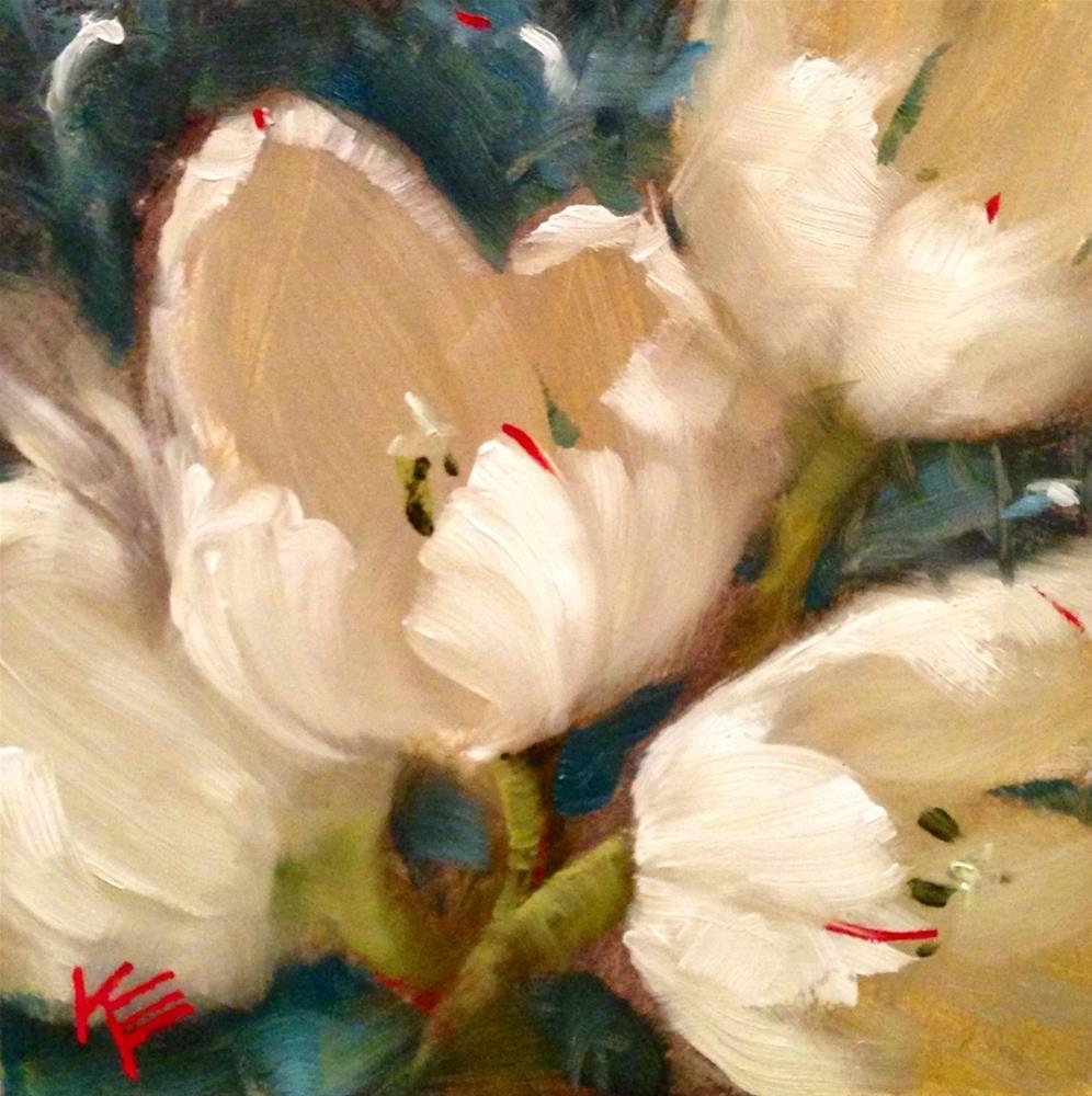 """Winter Tulips"" original fine art by Krista Eaton"