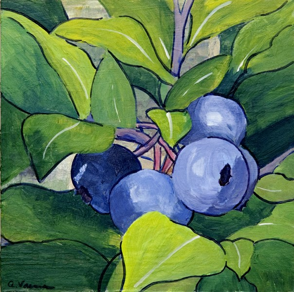"""Blueberry Twig"" original fine art by Anna Vreman"