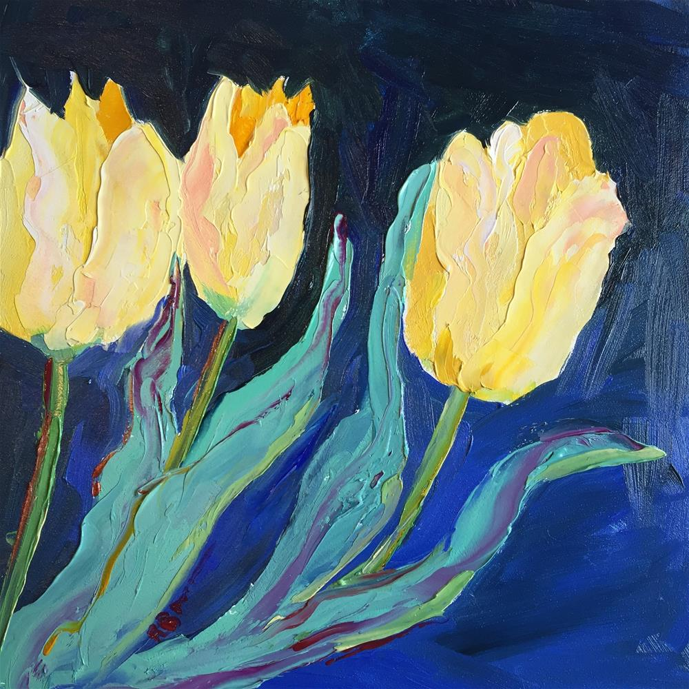 """Yellow Tulips"" original fine art by Rose Brenner"