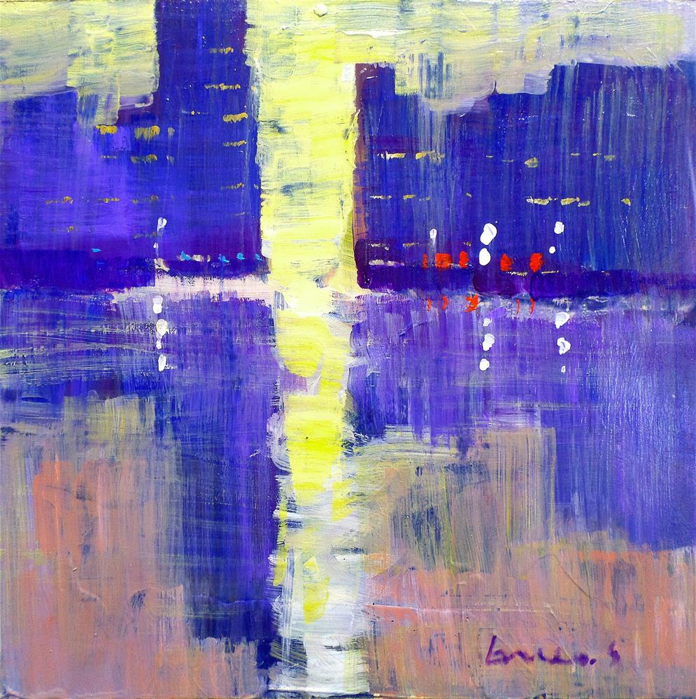 """Light in the city"" original fine art by salvatore greco"