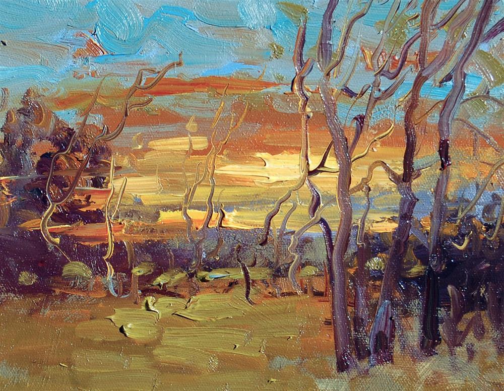 """Twilight Sky"" original fine art by Mahin Gholizadeh"