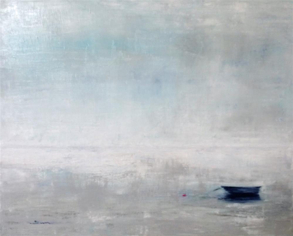 """""""A boat in fog"""" original fine art by Sun Sohovich"""