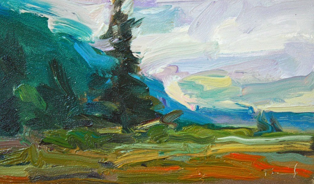 """Hood Canal Sky"" original fine art by Kathryn Townsend"