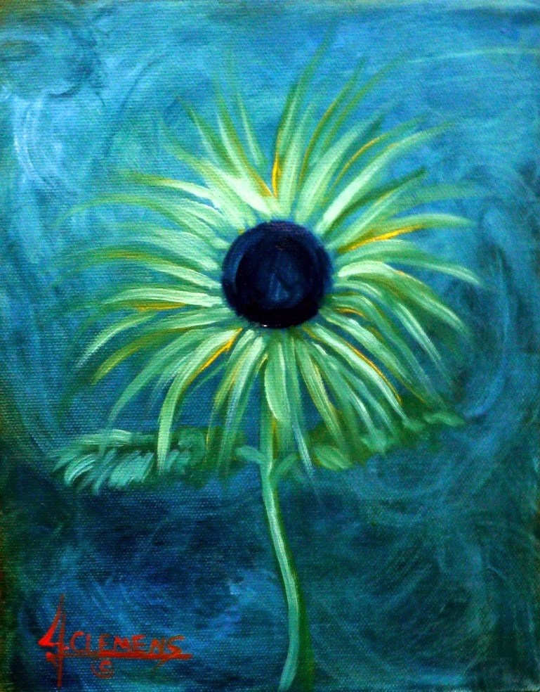 """Flower 1"" original fine art by Jolynn Clemens"