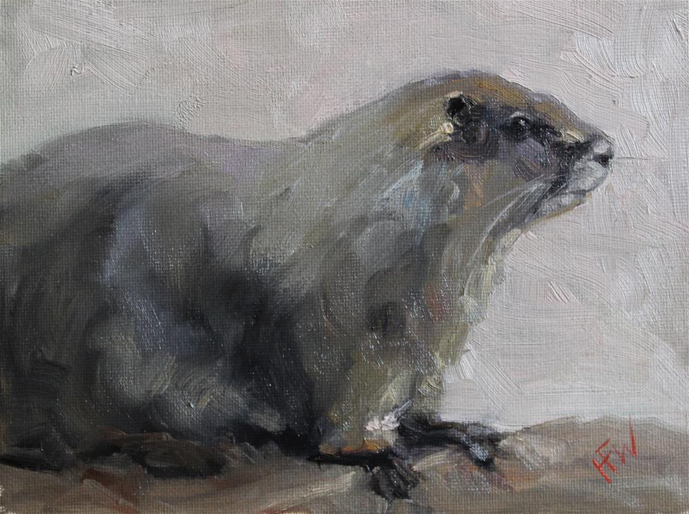 """""""Groundhog"""" original fine art by H.F. Wallen"""