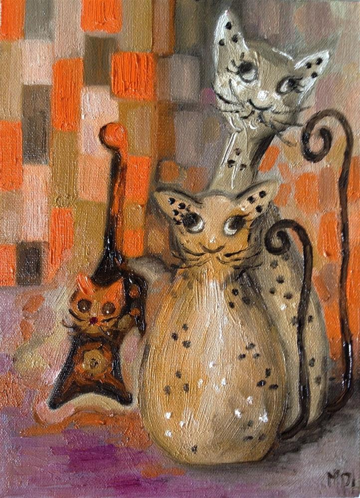 """Kittens 2"" original fine art by Monica Pinotti"
