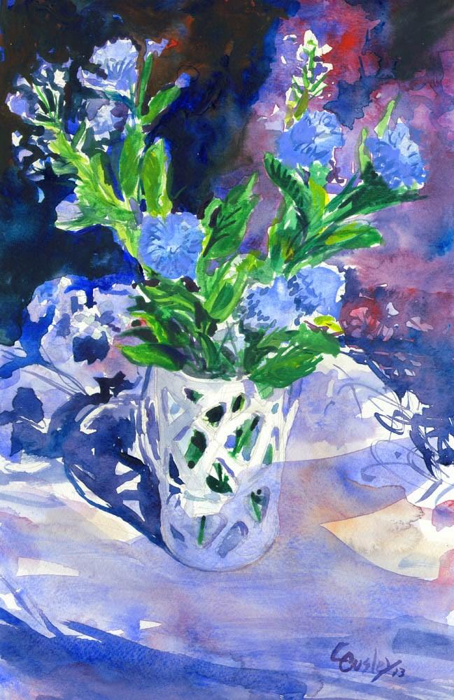 """""""Lavender Arrangement"""" original fine art by Chris Ousley"""