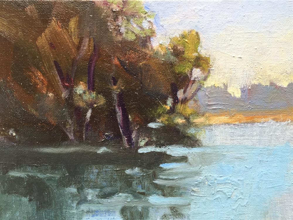 """Serenity at the Lake"" original fine art by Connie Snipes"