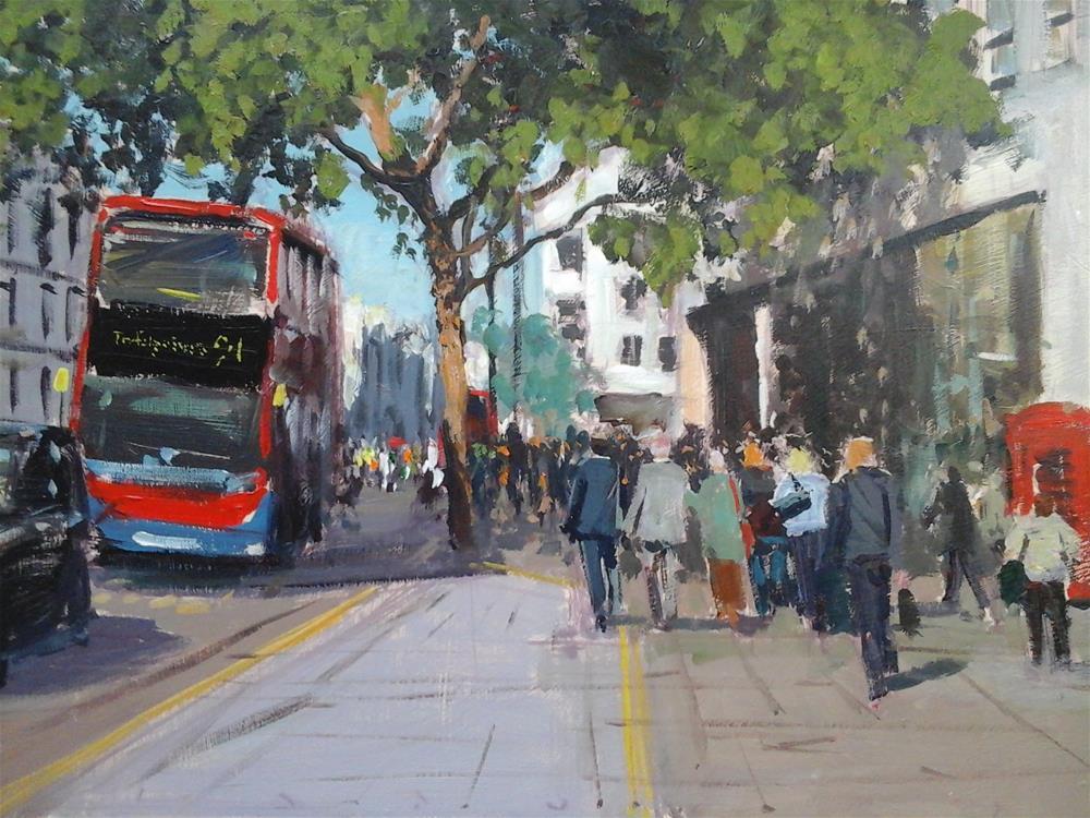 """Spring, Charing Cross"" original fine art by Adebanji Alade"