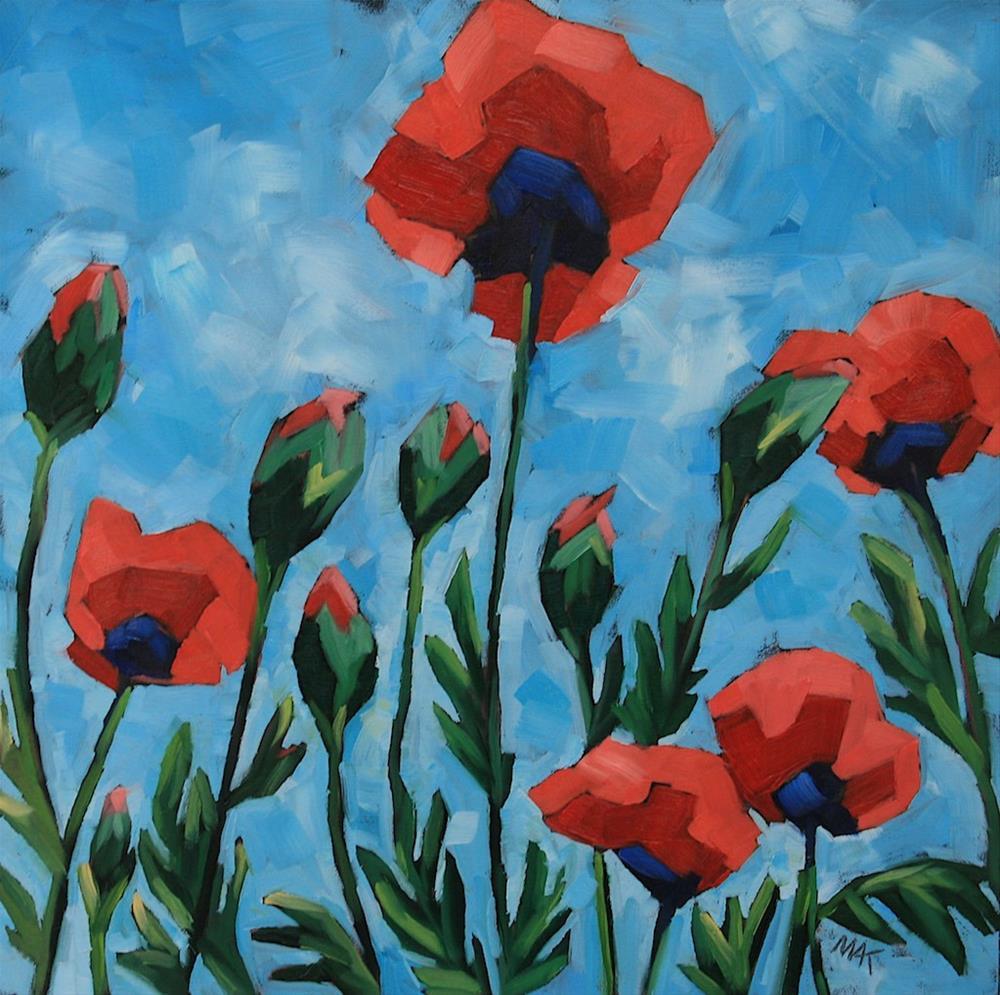 """Poppy Gala"" original fine art by Mary Anne Cary"