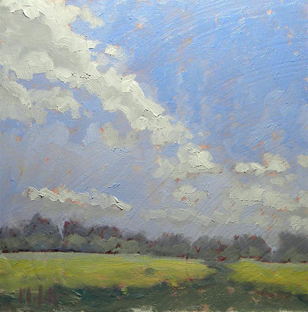 Summer Clouds Landscape Contemporary Impressionism Heidi Malott original fine art by Heidi Malott