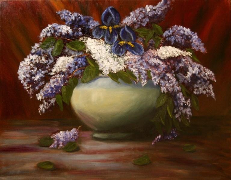 """Blue Iris"" original fine art by Mary Datum"