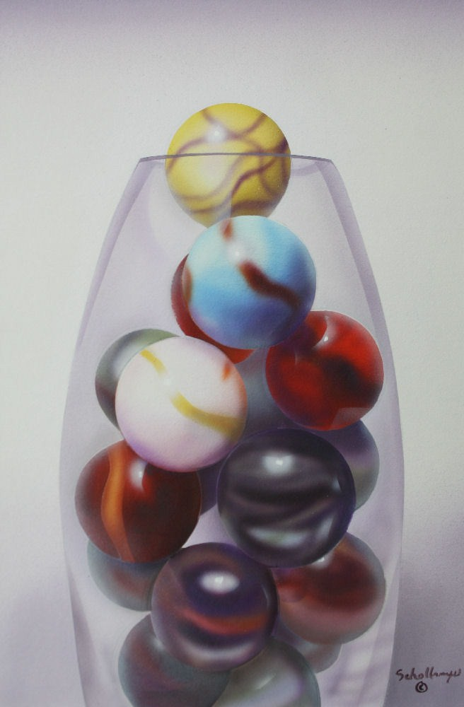 """Marbles # 15"" original fine art by Fred Schollmeyer"