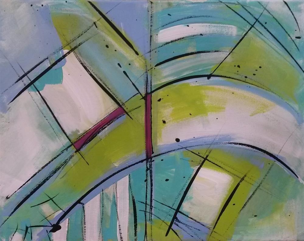 """""""Bridges"""" original fine art by Terri Einer"""