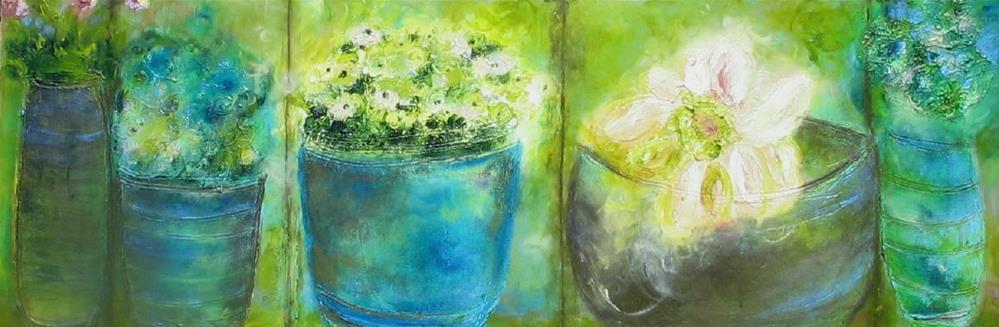 """Flower Pots"" original fine art by Christy Tremblay"
