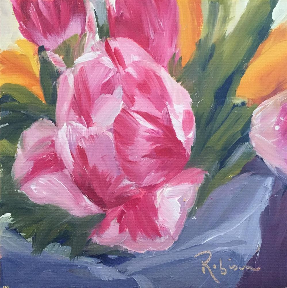 """""""Open Tulip"""" original fine art by Renee Robison"""