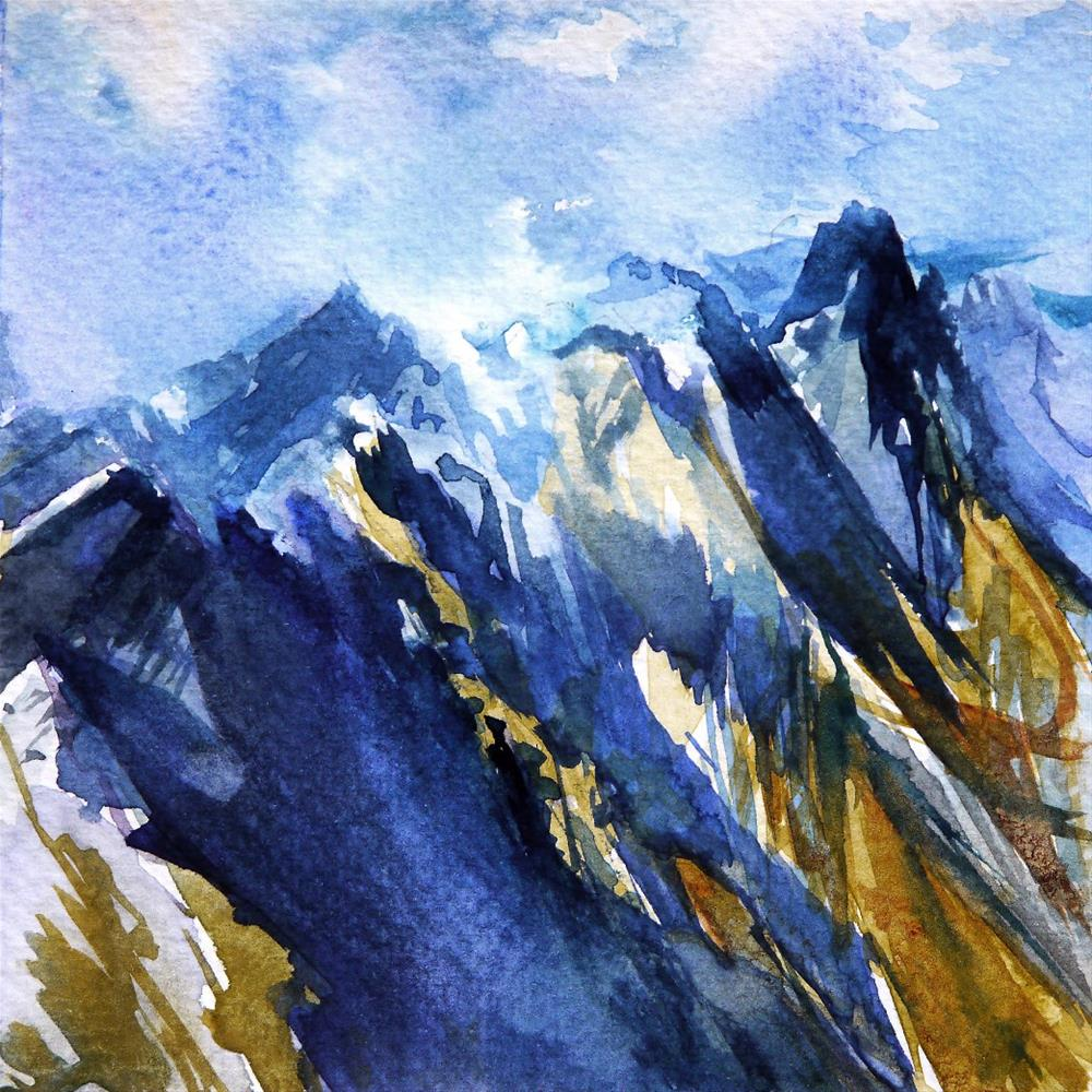 """""""mountains"""" original fine art by Beata Musial-Tomaszewska"""