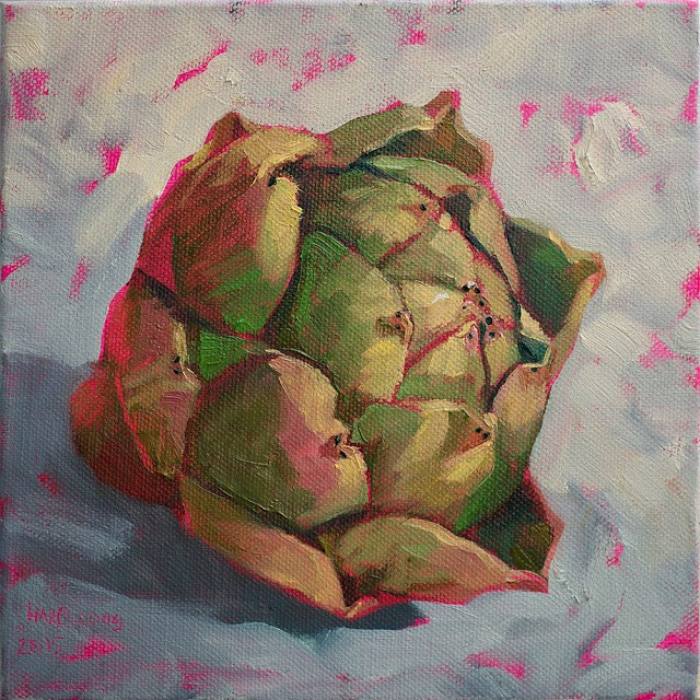 """Artichoke"" original fine art by Haze Long"